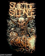 SUICIDE SILENCE cd lgo VIKING Official SHIRT XL New the black crown