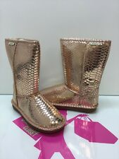 Pika Womens Classic Dazzle Shearling Lined Winter Boot Rose Gold Size 9