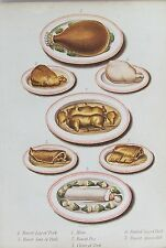 OLD ANTIQUE PRINT MRS BEETON COOKING COOKERY MEAT DISHES c1880's by KRONHEIM