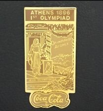 1896 Athens Olympic Poster Pin Badge~Coca Cola~1988 Coke~1st Olympiad~New