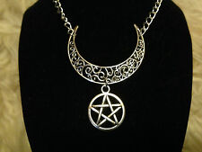 Cernunnos Baphomet Horned God necklace. Wicca Witch Pagan
