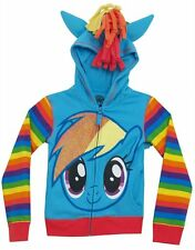 FREEZE Little Girls' My Little Pony Rainbow Dash Hoodie, Blue Multi, L