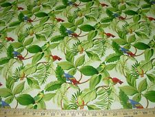 "~BTY~""BIRDS PARROTS""~MILL CREEK~COTTON DRAPERY UPHOLSTERY FABRIC FOR LESS"