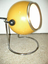 LAMPE ANCIENNE DESIGN D'EPOQUE 1970 JAUNE / VINTAGE YELLOW LAMP