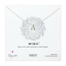 "Dogeared Sterling Silver Teeny Wishbone Wish 18"" Necklace"
