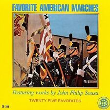 FAVORITE AMERICAN MARCHES (25 March Favorites featuring Sousa) CD [B11]