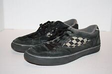 Vans Black Suede Men's Checked Skate Shoes Suede Size 8M FREE Shipping!!