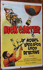 Used Cartel de Cine  NICK CARTER AQUEL LOCO DETECTIVE  Vintage Movie Film Poster