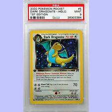 Pokemon 1st Edition Dark Dragonite Holo 5/82 Team Rocket PSA 9 MINT