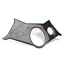 Carbon Fiber Look Pattern Triple Clamp Yoke Stickers Cover Fit Yamaha R6 2005 FM