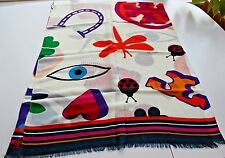 NWT Authentic TORY BURCH Luck Charm Printed Wool Scarf $175