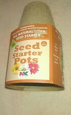 All Natural Fiber Seed Starter Pots by Plantation Products-8 Pots