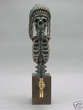 """""""CHIEF"""" INDIAN WARRIOR SKULL BAR BEER TAP HANDLE DIRECT FROM RON LEE"""