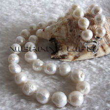 "18"" 9-11mm White A Kasumi Freshwater Pearl Necklace Jewelry UK"