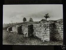 Glass Magic Lantern Slide HADRIANS WALL CHESTERS BATH HOUSE BUTTRESS C1930 FORT