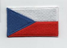 Embroidered CZECH Flag Iron on Sew on Patch Badge HIGH QUALITY APPLIQUE
