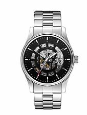 Caravelle New York Men's 43A124 Automatic Skeleton Dial Stainless Steel Watch