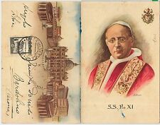 Vatican - POSTAL HISTORY: MAXIMUM CARD 1942 - ARCHITECTURE - double card USED !