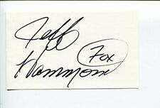 Jeff Hammond NASCAR Crew Chief Owner Commentator Signed Autograph