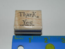 Stampin Up Rubber Stamp - Phrase / Saying - Thank You (Whisical Fun Font)