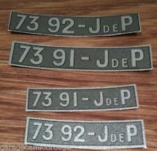 Plaque immatriculation papier avant pour voitures JEP de 32cm 7391