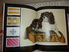 COFFEE TABLE HARD COVER CROSS STITCH & SAMPLER BOOK, NEEDLEPOINT, COLOR PICTURES