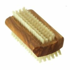 Hydrea London Olive Wood Nail Brush Large with Pure Boar Bristle WOL1