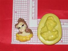 Princess Belle 2D Silicone Push Mold Food A618 Acrylic Topper Resin Candy Wax