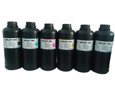 6Pints Led UV Curable ink for Flatbed Printer L800,L1800,R1390,R1400,DX5,DX7