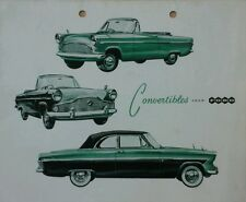 Ford Consul Zephyr & Zodiac Convertibles Sales Brochure - February 1959