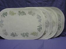 Corelle Thymeless Herbs Oval Placemats Table Coordinates Sage Dill Spices Cover