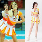 Sexy Cheerleader Costume Girls Match Uniform Sports Fancy Dress + Pom Poms S-2XL