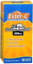 Ester-C 500 mg Coated Tablets 60 Tablets (Pack of 2)