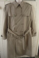 "beige trenchcoat M&S Collezione fully lined chest 38-40"" FAST UK POST"