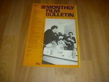 MONTHLY FILM BULLETIN  Warren Oates in COCKFIGHTER  cover  Aug 77