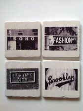 Marble Tile Coasters with Corked Backing