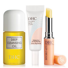 DHC Deep Cleansing Oil Mini, Velvet Skin Coat Mini, and Lip Cream, 4 samples