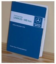 Mercedes Unimog and MB-trac Technical Data Book 1979 - NEW