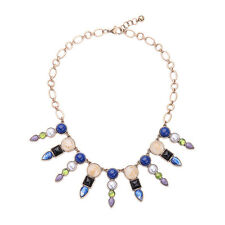 NEW * Anthropologie Aillue Drop Blue Purple Green Beaded Statement Necklace