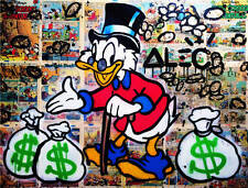Alec Monopoly Oil Painting on Canvas HUGE Graffiti art Mr. Scrooge 28x40""