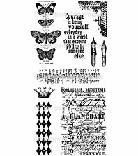 Tim Holtz Rubber Stamps - Butterfly Melange, Courage, Music, Pens, Corners
