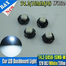 4Pcs T4/T4.2 Neo Wedge White Dashboard Climate Heater Light Bulb Lamp DC12V 10LM