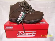 New In Box !!!!!  Coleman Mens Lakeside Brown Waterproof Boots-Size 11   pb W16