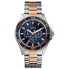 NEW GUESS WATCH for Men * Rose Gold/Silver Tone * Multi-Function * 100m U0172G3