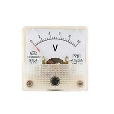 1Pcs Miniature AC 0-10V Analog Pointer Volt Panel Meter Gauge