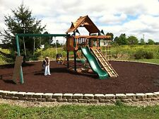 2,000 Supersack of Playsafer Playground Rubber Mulch BROWN
