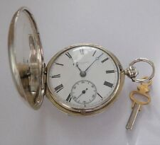 1840 JOHN DENT SILVER CASED FUSEE FULL HUNTER POCKET WATCH WORKING