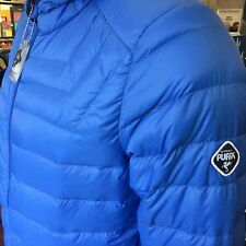 PUFFA Puffer men's boss ultra light bubble down jacket large 42/44 blue hood new