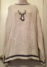 Shenandoah Thick Chunky Sweater Deer Buck Hunting Warm Winter - Large