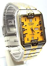 New Citizen Man  Two-tone 14 Genuine-Crystals,  Dress Watch